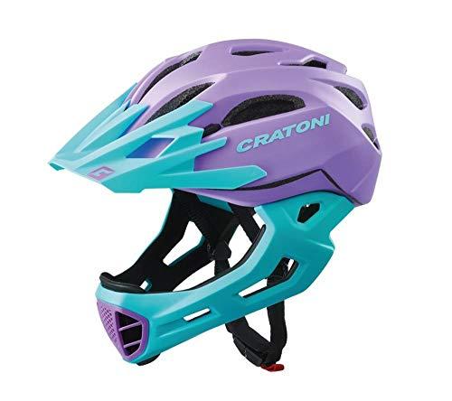 Cratoni C-Maniac Freeride Helm lila/Turquoise Matte Kopfumfang M/L | 54-58cm 2020 Fahrradhelm