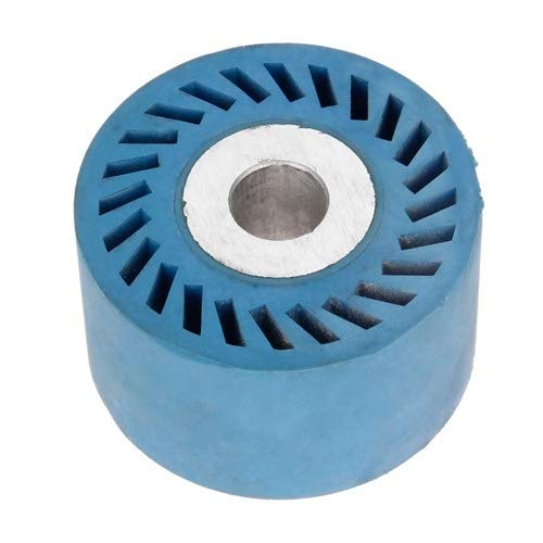NO LOGO EG-PWPGL, 1 Stück, 86 x 50 mm, solide, geriffelte Gummi-Kontaktrad für Bandschleifer, Schleifer, Polieren, Fasen, Schleifscheibe, Schleifband, 86x50x20mm Solid