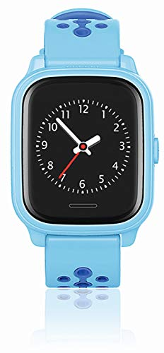 ANIO4 Touch GPS Kinder Smartwatch Smartphone Watch - Schutz für Ihr Kind - SOS Notruf - Telefonfunktion - Keine MONITORFUNKTION - GPS Kinder Uhr, Hellblau