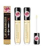 Lip Plumper, Lip Enhancer, Lip Plumper Gloss, Lip Care Serum, Lip Plumping Balm, Moisturizing Clear Lip Gloss for Fuller Lips & Hydrated Beauty Lips 3PCS