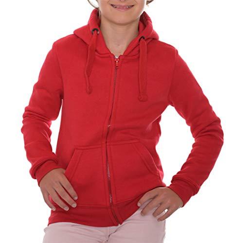ROCK-IT Apparel® Sudadera Unisex Sudadera para niños y niñas Tallas 89-164 RI1051 Rojo 134/140