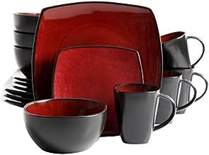 Gibson Elite Soho Lounge Reactive Glaze Stoneware Dinnerware set, Bella, Red