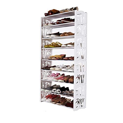Zapatero 9 niveles del gabinete de zapatos Torre Organizador de almacenamiento Soporte de estante de zapatos con tela no tejida de hasta 24 pares de zapatos Organizador para Zapatos ( Style : C )