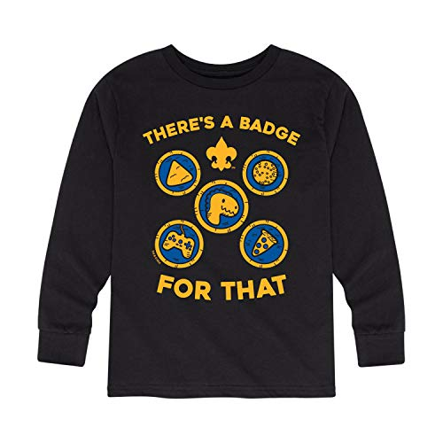 Boy Scouts of America Theres A Badge for That - Youth Long Sleeve T-Shirt Black