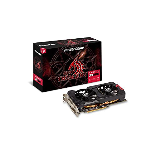 Placa de Vídeo PowerColor RX 570 GDDR5 de 4 GB RADEON RX 570 AXRX 570 4GBD5-DHDV3 / OC