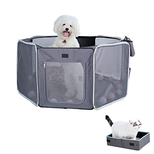 ZHL Draagbare Pet Playpen, Hond Grote Pop Up Tent Puppies Draagbare Opvouwbare Duurzame Kennel, F
