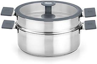BRA - Olla Inox Cocina Vapor Color Bra 24 Cm