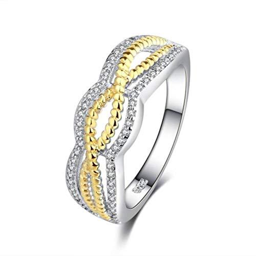 Thumby sieraden gedraaide gouden ring, gevlochten met liefde Amerikaanse sieraden, halfedelstenen, dames, dans, pavé, geometrisch, sexy cocktailringen