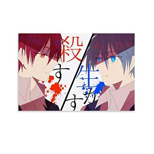 GHJH Póster de anime de Japón de 14 Assassination Classroom A Japón para decoración de pared, lienzo artístico de acuarela para dormitorio de niños, 60 x 90 cm