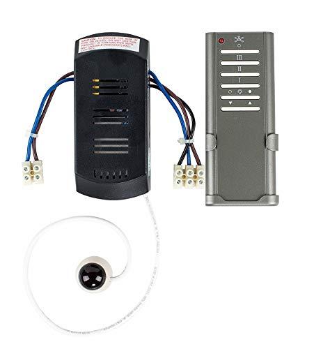 MiniSun – Praktische Infrarot-Fernbedienung für Deckenventilatoren mit grauem Finish – Fernbedienung für Deckenventilatoren