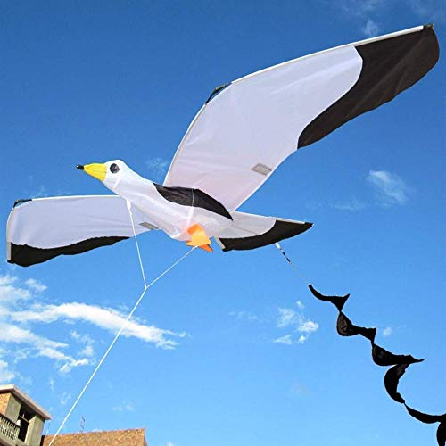FFSM Original Kite, Kids Kite Kites For Kids Easy To Fly With Outdoor Sports Seagull Easy to fly (Color : White) plm46 (Color : White)