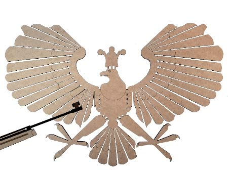 MomoMoments Vogelschießen, Schützenvogel, Schützenadler, Zielscheibe fürs Luftgewehr Diabolos 4,5 mm, Schützenfest, Geschenk Vatertag, Holzvogel, Made in Germany