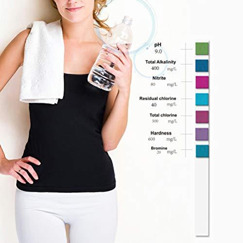 Mekta Wasser Qualitätstest Papier,100Pcs PET Wasserteststreifen Wassertest Werkzeug,Kann 9 Einzelteile prüfen,pH Gesamtalkalinität Nitrit