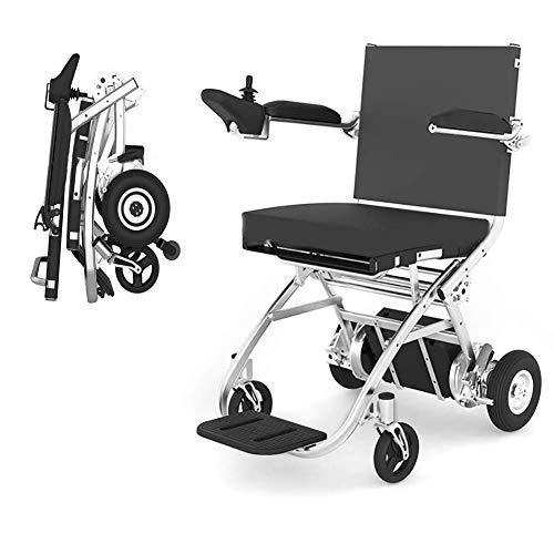 N&O Casa de renovación Silla de Ruedas eléctrica Ligeramente Plegable Scooter portátil para Ancianos Manual eléctrico Modo Dual