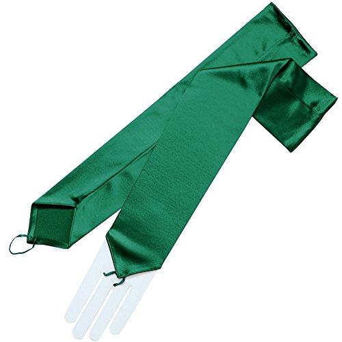 ZAZA BRIDAL Stretch Satin Fingerless Gloves Opera Length 16BL-Hunter Green
