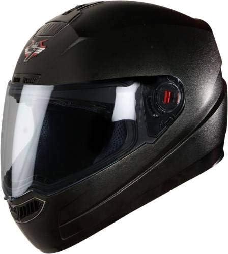Steelbird SBA-1 Classic 7WINGS Full Face Helmet with Plain Visor (Large 600 MM, Black)