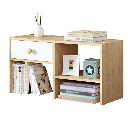 Librero Estudiante Dormitorio Desktop Bookshelf Tipo de cajón Librería Librería de Almacenamiento de oficinas para almacenar Libros revistas CD y más Bastidor de exhibición Estante para Libros