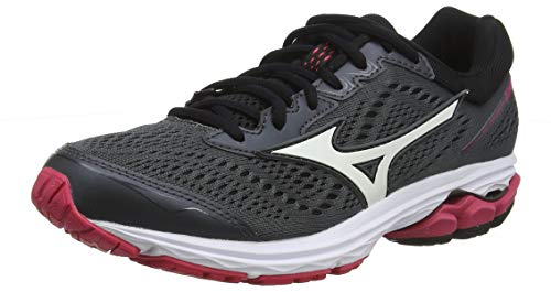 Mizuno WAVE RIDER 22, Women Running Shoes, Black (Dark Shadow/White/Azalea 71), 5 UK (38 EU)