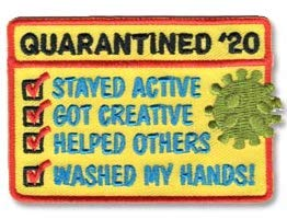 Cub Girl Boy QUARANTINED '20 Embroidered Iron-On Fun Patch Crests Badge Scout Guides