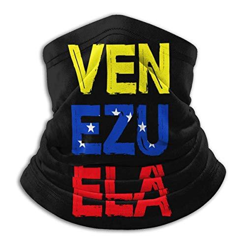 DFGHG Camping Randonnée Vêtements Hommes Chapeaux Chapeaux Chapeaux multifonctionnels Distressed Venezuela Flag Unisex Microfiber Neck Warmer Headwear Face Scarf Mask For Winter Cold Weather Mask Band