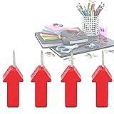 Omabeta Clavo De Fijación De Fotos 25 Piezas Clavo De Chincheta con Forma De Flecha Roja para Mensajes Familiares para La Oficina(Medallón de chincheta de Flecha roja)