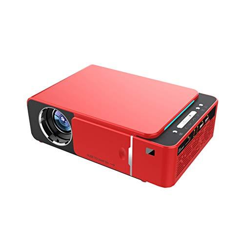 Yanghao , LED Proyector 4K HDMI Full HD 1080P De Cine En Casa Proyector De Vídeo Compatible con HD Portátil,Rojo