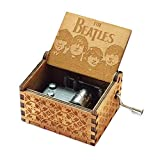 Carillon Beatles, scatole musicali a manovella in legno intagliato antico per il compleanno dei bambini (A-Wood)