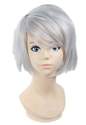 etruke court gris argenté Hiiro Miku Kakera Parti Cosplay Perruques