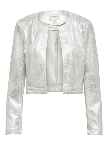 Only Bolero - Chaqueta corta de mujer ligera OnlCarina Jacket Bright White Bright White 42