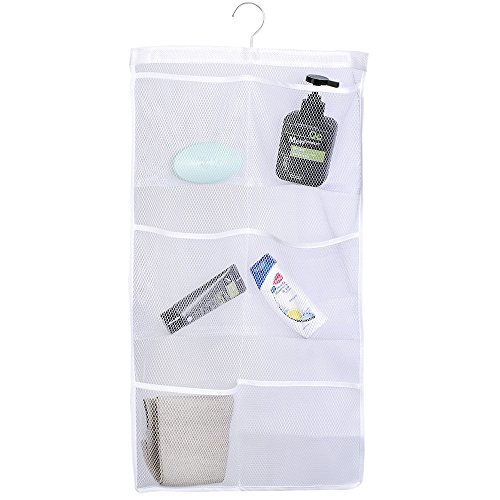 Space Saving Mesh Shower Organizer with 6 Pockets