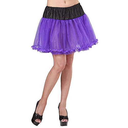 Widmann Petticoat mit schwarzem Bund 45 cm lilas