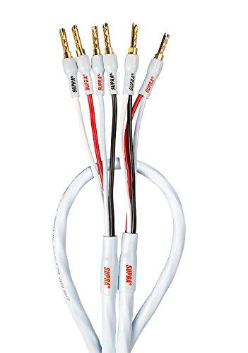 Supra Cables Rondo luidsprekerkabel 4 x 2.5 Bi-Wire CombiCon krimp, 4,00m