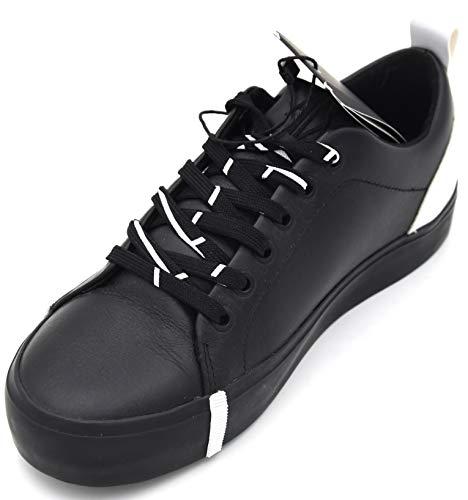 Armani Exchange Damen Turnschuhe Freizeitschuhe Sneaker Casual Art. XDX003 XV037 41 EU - 10M USA - 8 UK Nero Bianco Black White