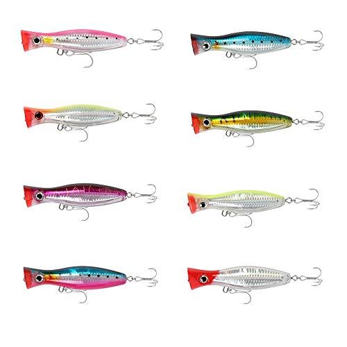 HXDY Cebo De Pesca De 8 Piezas, Cebo De 12 Cm 43 G, Cebo De Pesca De Pez Pop Duro De Ojo 3D, con Gancho Y Lazo, para Agua Dulce 12cm