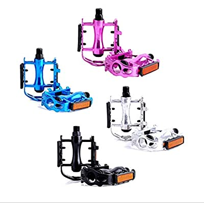 """Fat-Cat Aluminum Alloy Bike Pedals, Performance Mountain Road and Fixed Gear Bicycle Pedal Sets, 9/16"""" Bike Accessories (Purple)"""