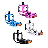 Fat-Cat Aluminum Alloy Bike Pedals, Performance Mountain Road and Fixed Gear Bicycle Pedal Sets, 9/16' Bike Accessories (Black)