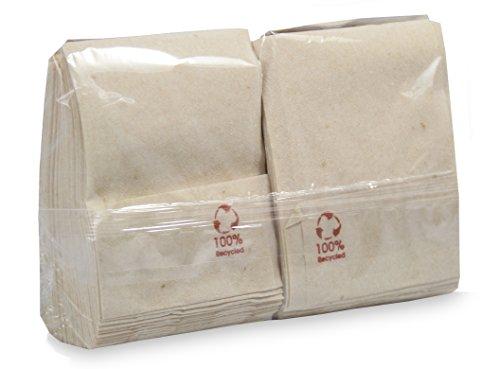 Saten Miniservis, Servilleta 17x17, 1 Capa, 100% Natural, Kraft, 9 Paquetes de 200 Unidades