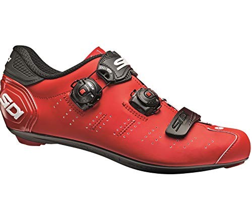 Sidi Ergo 5 Matt - Zapatillas de Ciclismo para Hombre, Color Rojo Mate, Negro, 43