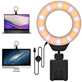 Laptop Light for Video Conferencing, Led Ring Light with Clip for Working, Recording, Zoom, Self Broadcasting and Live Streaming
