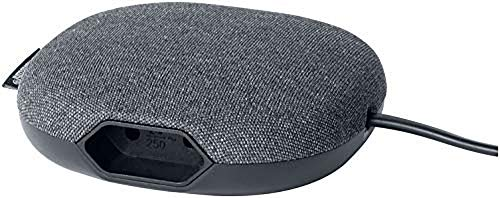 Brennenstuhl estilo Ladestation mit Textiloberfläche (Möbel-Steckdose mit 1x Euro-Steckdose und 2x USB-Charger) schwarz/anthrazit