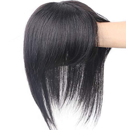 Haarteil aus menschlichem Haar, lockig, gewellt, natürlicher Look, Toupee, inklusive Ersatzklammer, unsichtbar, für Frauen mit dünner werdendem oder weißem Haar, 13 x 13 cm