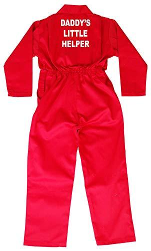 Acce Products Kinder-Overall Daddy's Little Helper für Babys und Kleinkinder, Arbeits-Overall, Größen: 1-7Jahre Gr. Brust 51 cm Alter 1-2, rot