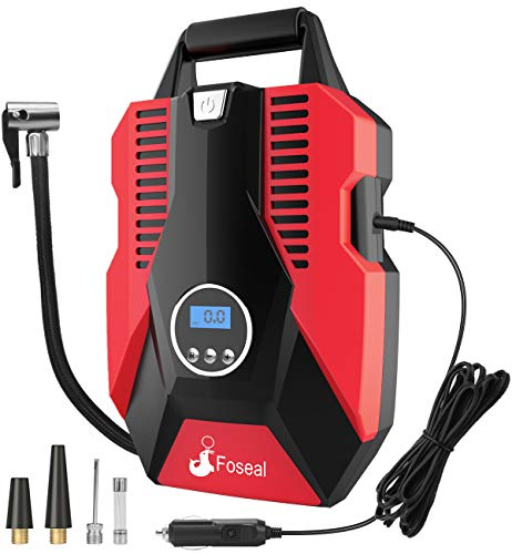 Auto Tire Pump with Led Lighting and Long Cable for Car Digital Tire Inflator Bicycle Motorcycle Auto ShutOff and BIG BONUS ! Portable Air Compressor Pump 150PSI 12V Basketball and others