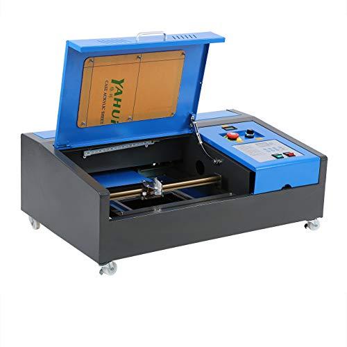 Samger Incisione Laser CO2 40W Macchina Taglio Laser 300x200mm Controllo display LCD con porta USB Strumenti di Lavorazione del Legno di Opere d'arte