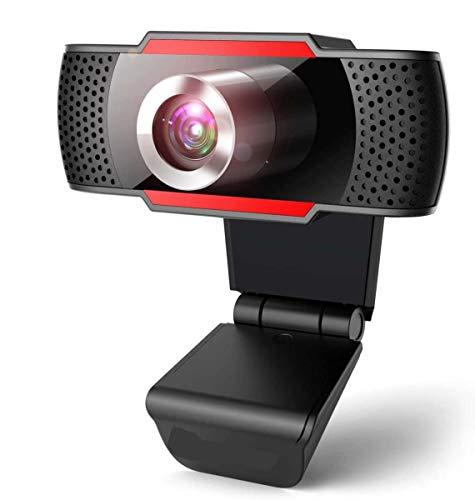 YHX Cámara Web 1080P, Cámara Web con Enfoque Automático, Transmisión De Video Full HD, Micrófono con Cancelación De Ruido, Funciona con OBS, Skype, Youtube, Twitch, para PC/Mac/Laptop