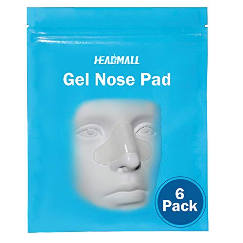 CPAP Nose Gel Pad 6 Packs, Universal Nasal Pads for CPAP Mask-Reduce Red Marks, Prevent Mask Leak, Skin-Friendly & Hypoallergenic