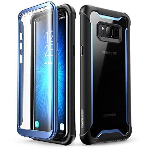 i-Blason Coque Samsung Galaxy S8 Plus, Coque Transparente Antichoc Bumper avec Protecteur d'écran Intégré [Série Ares] pour Galaxy S8 Plus 2017 (Bleu) - 6.2 pouces
