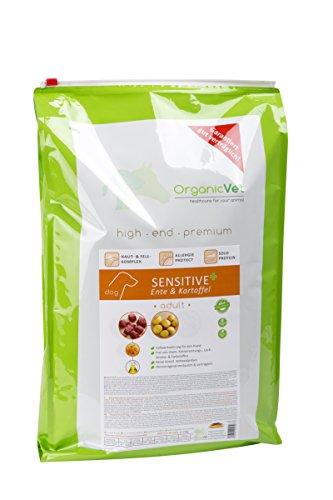 ORGANICVET Hund Trockenfutter Sensitive + getreidefrei Ente & Kartoffel, 1er Pack (1 x 10 kg)