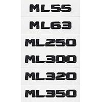 メルセデスベンツML55 ML63 ML250 ML300 ML320 ML350 ML400 ML430 ML450 ML500 ML550 W163 W166の場合、トラックデカール自動バッジ