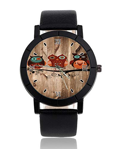 Tribal Eulen Armbanduhr Lederarmband Armbanduhr Casual Uhren für Damen
